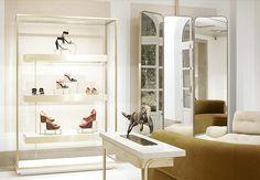 I want this mirror. CHLOÉ PARIS: A Dreamy New Shop By Joseph Dirand.