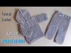 Como tejer un ajuar a crochet: pantalón - YouTube