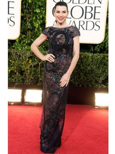 Julianna Margulies in Pucci. Great Globes look!
