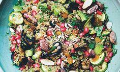 Green Kitchen Stories: meat-free recipes from around the world Salad Recipes Gluten Free, Healthy Salad Recipes, Diet Recipes, Healthy Snacks, Vegetarian Recipes, Recipies, Moroccan Salad, Mint Salad, Quinoa Salad