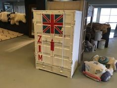 Containerkast 2 deurs wit
