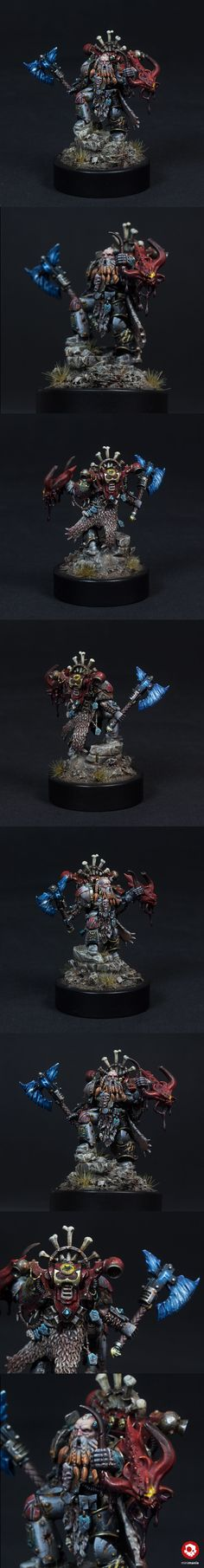 40k - Space Wolves Lone Wolf, 13th Company by kreativerlemming