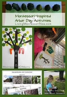 Montessori-Inspired Arbor Day Activities (perfect for Earth Day or a tree unit study at any time)