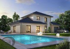Découvrez l'univers de cette belle maison moderne à étage, conçue par les équipes Maisons Clair Logis Rhône-Alpes. Vous pourrez profiter d'un bel espace de vie lumineux au rez-de-chaussée, vous offrant une belle vue sur votre jardin.