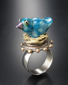 wayne robbins glass bird ring.  This is my cousin!!!