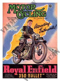 Resultado de imagen para royal enfield cartel retro