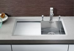 Built-in stainless steel sink with drainer BLANCO ZEROX 4 S-IF by Blanco