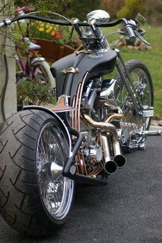 Harley Chopper motorcycles and custom motorcycles. Sometimes bobbers but mostly choppers, short chops and custom bikes. Harley Davidson Chopper, Harley Davidson Motorcycles, Harley Bobber, Custom Choppers, Custom Bikes, Triumph Motorcycles, Cool Motorcycles, Vintage Motorcycles, Indian Motorcycles