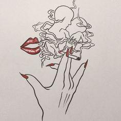 disappear like smoke Song ' Cigarettes After Sex - Affection' Art And Illustration, Dope Kunst, Smoke Art, Desenho Tattoo, Pics Art, Art Drawings Sketches, Erotic Art, Aesthetic Art, Art Inspo