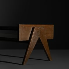 PIERRE JEANNERET coffee table from Chandigarh France/India, c. 1960 teak, glass