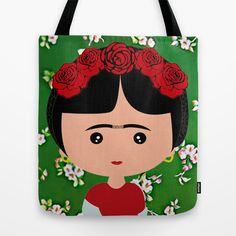 Frida Kahlo Tote Bag by Creo tu mundo - $22.00