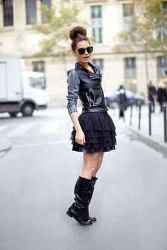 WOW! Rock Ballerinas style is trending on the street! :)) ★ Rock 'n' Roll Style ★ Rock'n Roll Ballerina