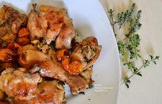 Αρωματικό κοτόπουλο με ντοματίνια στο φούρνο Tandoori Chicken, Chicken Wings, Chicken Recipes, Meat, Ethnic Recipes, Food, Meals, Recipes With Chicken, Yemek