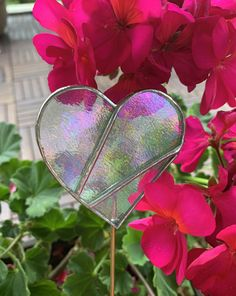 Stained Glass Heart, iridescent, handmade with love! Iridescent, Stained Glass, Heart, Handmade, Hand Made, Stained Glass Windows, Stained Glass Panels, Leaded Glass, Arm Work
