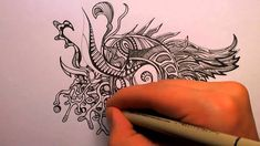 How to Doodle: Some Tips (50x speed)  Good for Zentangles - artist Peter Deligdisch.