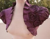 One example of a purple rose bolero that I think would go very well in today's red carpet fashion.