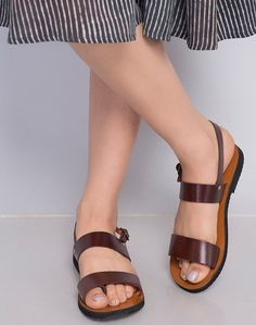 8ad38a0769f917 Buy Fabindia Brown Leather Toe Strap Sandal online - Fabindia.com-Fulpy  Social Shopping
