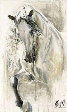 Reproductions giclées sur toile - giclée prints on canvas — Elise Genest Horse Drawings, Animal Drawings, Art Drawings, Painted Horses, Pretty Horses, Beautiful Horses, Horse Pictures, Art Pictures, Arte Equina