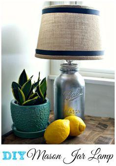 DIY Mason Jar Lamp #diy #diylamp #masonjar #masonjarcraft #lamp #masonjardiy #masonjarlamp