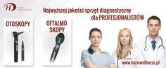 Oferta urządzeń diagnostycznych: otoskopy, oftalmoskopy, stetoskopy, cisnieniomierze, młotki itp.