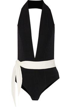LISA MARIE FERNANDEZ Riri Two-Tone Swimsuit. #lisamariefernandez #cloth #swimsuit