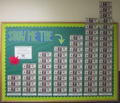 Planning for college / Show me the money bulletin board.