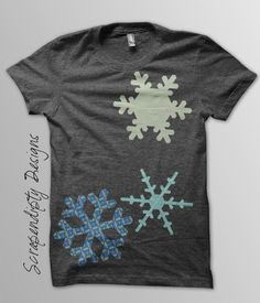 (7) Name: 'Quilting : Snowflake Applique Template Shirt Quilt