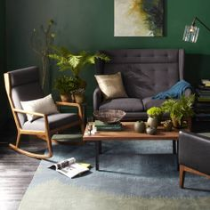 Find out which 10 small living room paint colors interior designers choose to make a space look bigger than it really is. Room Paint Colors, Paint Colors For Living Room, Living Room Green, Green Rooms, Ideas Hogar, Decoration Design, Green Decoration, Decorating Small Spaces, Decorating Tips
