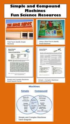 Simple and Compound Machines Fun Teaching Resources