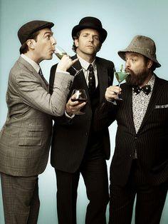 Ed Helms, Bradley Cooper, and Zach Galifianakis