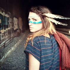 Beautiful girl. Native American. Feathers. Repin. Makeup. Style. Hipster girl. What else will people search? Haha