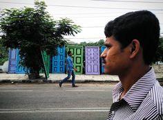Open doors  Hyderabad  India  #colorful #door #street #faces #people #peopleofhyderabad #tree #rainyday #vacation #hyderabad #india by sujatroghosh