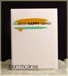 Smiling while Stamping: CAS(E) 122 handmade happy card using My Favorite Things Abstract Art and Totally Happy stamp sets