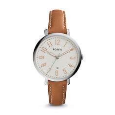Jacqueline Two-Hand Date Dark Brown Leather Watch @KriekieP xx