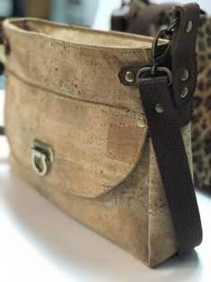 f84cd9cc92 Vintage Handbags and Purses . Comfortable crossbody bag with exterior  pocket front and back. Cork exterior Lined interior Pocket with