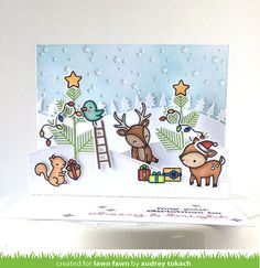 Lawn Fawn Cheery Christmas card scene                              …