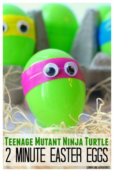 Teenage Mutant Ninja Turtle 2 Minute Easter Eggs   craft party