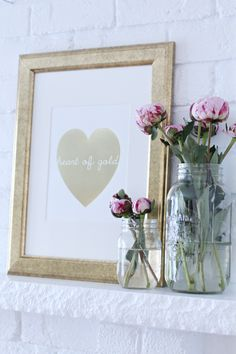 Heart of Gold Print- I like this for Valentine's Day