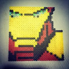 Iron Man perler beads by  9.shi_bo