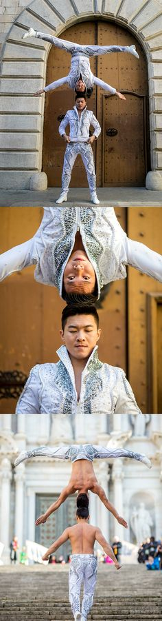 wo unfathomably-strong Vietnamese brothers have smashed the record for the Most consecutive stairs climbed while balancing a person on the head in Girona, Spain.    Circus duo Giang Quoc Nghiep and Giang Quoc Co conquered the 90 stairs of Saint Mary's Cathedral while balancing head-to-head.  #strength #core #fitness #strong #muscles #toned #spain #balance #zen #abs #arms #fit #fitguide #body #workout #health #fitmom