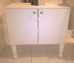 IKEA FULLEN sink cabinet with new BRATTVAG legs