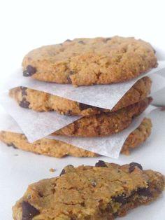 New Cookies Healthy Banane Ideas Nutella Recipes, Fruit Recipes, Sweet Recipes, Cookie Vegan, Peanut Butter Chip Cookies, Cookies Banane, Cookie Recipes For Kids, Super Cookies, Honey Pie