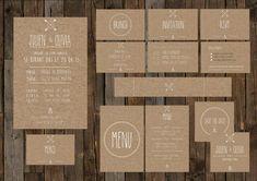 nouvelle recherche pour faire part plus simple: papier recyclé, typo blanche