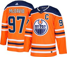 You may not prep for Edmonton Oilers game days exactly like Connor McDavid does, but your game day routines can have one awesome thing in commonproudly putting on his Edmonton Oilers Authentic Player Jersey from adidas. Adidas Brand, Adidas Men, Hockey, Connor Mcdavid, Nhl Logos, Jersey Outfit, Nhl Jerseys, Edmonton Oilers, Team Logo