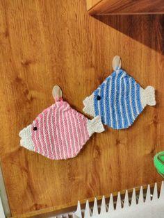 pletené rybičky - chňapky