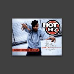 Hip Hop Music Photography Poster Red Man Hot 97 Radio by Carl Posey, $85.00