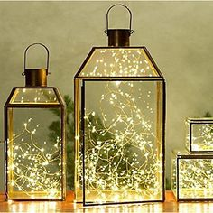Fun and creative solution for indoor/outdoor decorative lighting. Rejuvenate and set a warm mood for your empty glass bottles, lanterns, plants, fixtures, sconces, and more! 20 Super Bright LEDs Lights on 7Ft Long Silver Ultra Thin Wire . TOTAL STRING LENGHT OVER 7.5 FEET.Lights Have Over 20 Years of Life Span and Use Fraction of Energy Needed by Regular Light Strings. They are also much brighter than Starry Lights or Fairy Lights.Ultra Thin, Bendable but Sturdy Wire with LED Lights is ...