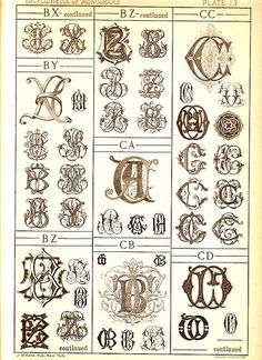 Antique Page of Monograms-13 | Flickr - Photo Sharing!