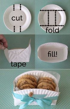 food gifts, gift boxes, creative ideas, diy cookie holder, cookie gifts