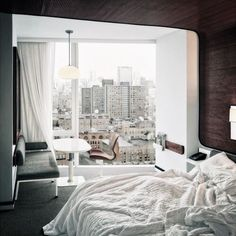 A bed with a view? The view